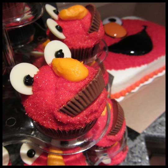 Elmo Cupcakes 2 Year Old Birthday Perfection
