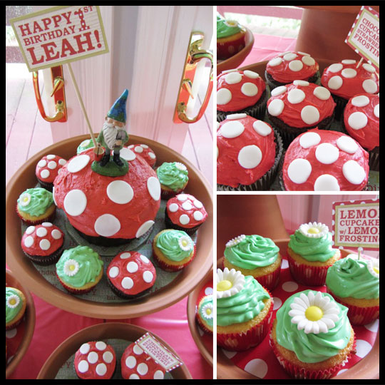 Leah's 1st Birthday: A Garden Gnome Party with Cupcakes | Cupcake ...