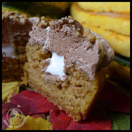 Baking Experiment: Pumpkin S'mores Cupcakes (2/2)